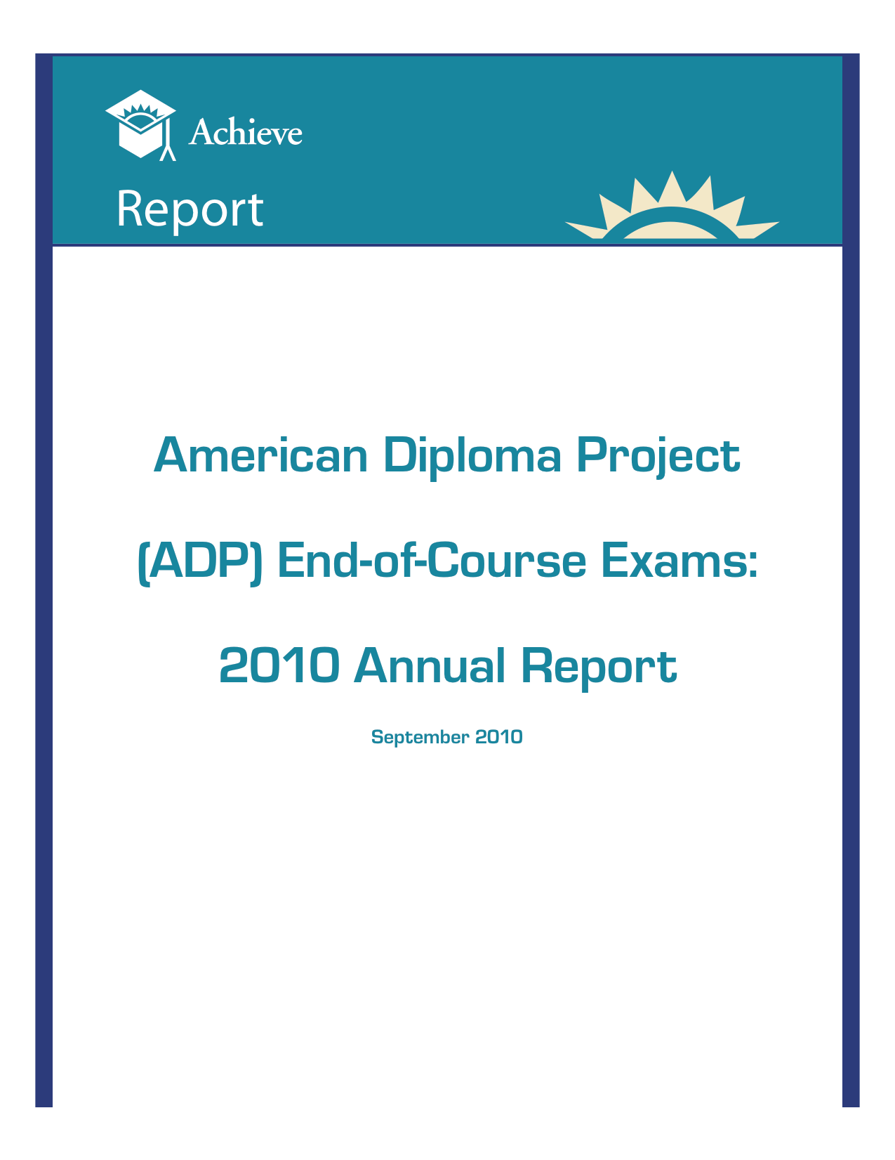 Cover of ADP End-of-Course Exams: 2010 Annual Report
