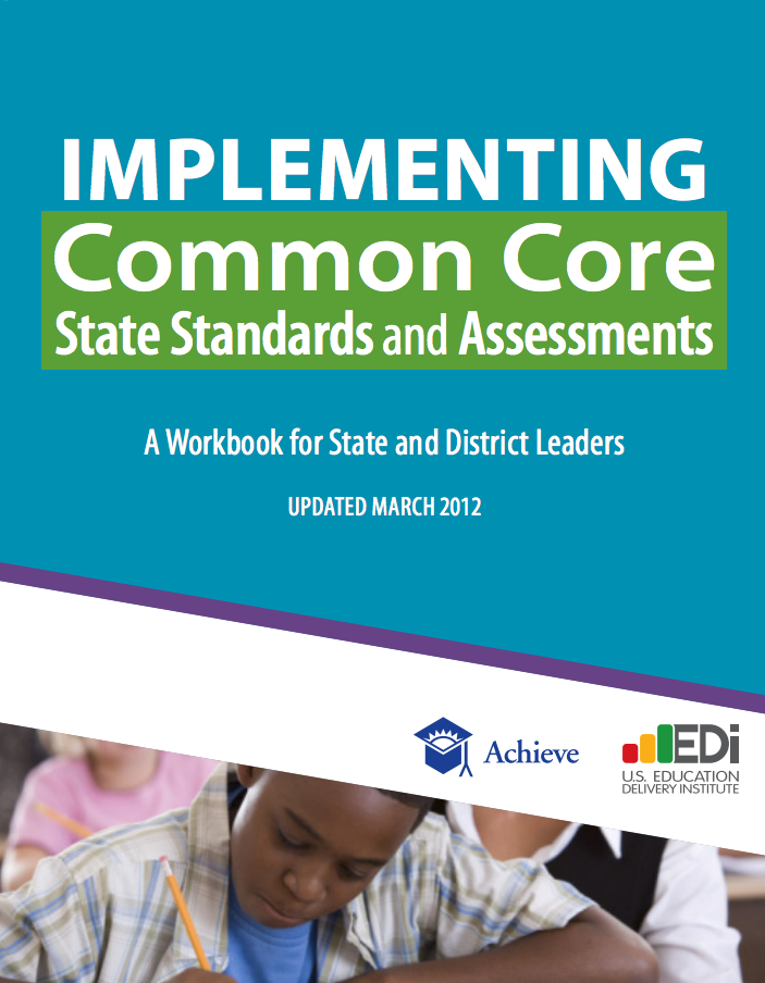 Cover of Common Core Implementation Workbook