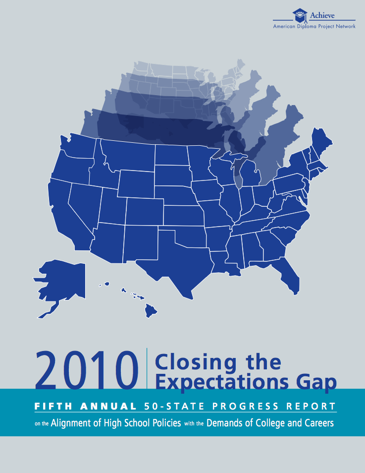 Cover of Closing the Expectations Gap 2010