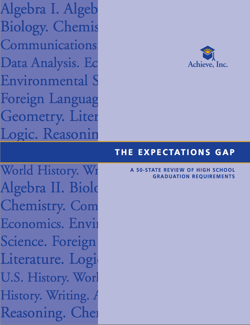The Expectations Gap: A 50-State Review of High School Graduation Requirements