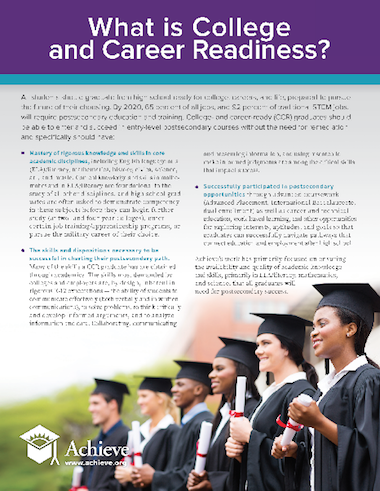 What is College and Career Readiness?