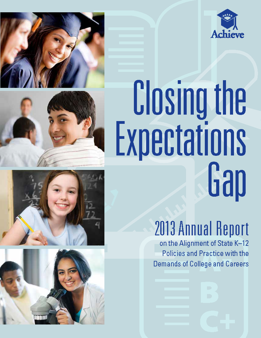 Closing the Expectations Gap 2013 Cover