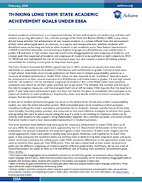 Thinking Long Term: State Academic Achievement Goals Under ESSA