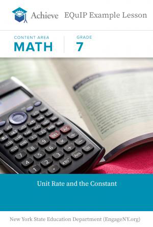 Grade 7 Unit Rate And Constant Of Proportionality Example Achieve