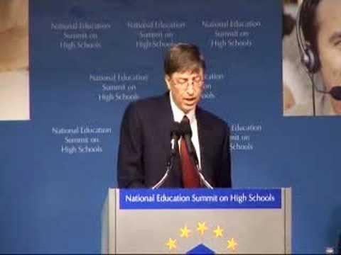 Embedded thumbnail for Bill Gates at National Education Summit